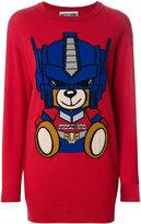 Moschino Transformer Bear sweater dress - women - Virgin Wool - XS