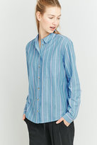 Urban Outfitters Blue Striped Button-down Shirt