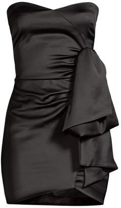 LIKELY Kika Sweetheart Satin Mini Dress