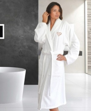 "Linum Home Terry Bathrobe Embroidered with ""I Love You Mom"" Bedding"