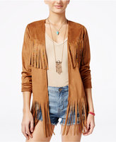 American Rag Faux-Suede Fringe Jacket, Only at Macy's