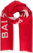 Balenciaga Logo blanket scarf