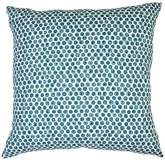 Imagine Home Dot Viridian Pillow - Blue/White 20x20