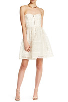 Betsey Johnson Zip Front Lace Skater Dress