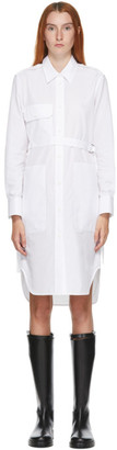 Helmut Lang White Belted Shirt Dress