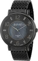 August Steiner Men's AS8138GN Analog Display Swiss Quartz Black Watch