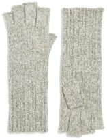 Halogen Women's Rib Knit Fingerless Gloves