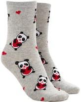 Forever 21 FOREVER 21+ Panda Bear Graphic Crew Socks