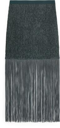 Arket Fringed Smock Skirt