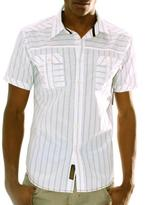 191 Unlimited 191 Unlimted Men's White Striped Shirt