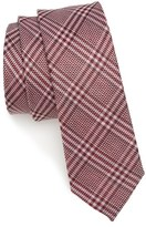 The Tie Bar Columbus Plaid Linen & Silk Tie
