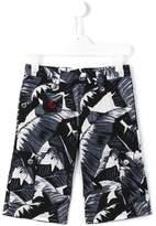 Dolce & Gabbana palm print shorts