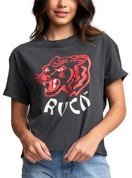 RVCA Juniors' Dynasty Cotton Graphic T-Shirt