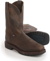 Justin Boots Sunderland Crazyhorse Cowboy Work Boots - Leather (For Men)