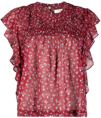 Etoile Isabel Marant Leyona floral print blouse