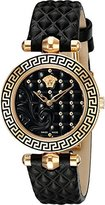 Versace Women's VQM010015 Vanitas Micro Analog Display Swiss Quartz Black Watch