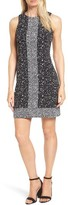MICHAEL Michael Kors Women's Nora Border Print Sheath Dress