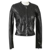 Givenchy Leather And Rhinestone Jacket