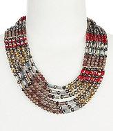 Natasha Accessories Multi-Row Collar Necklace