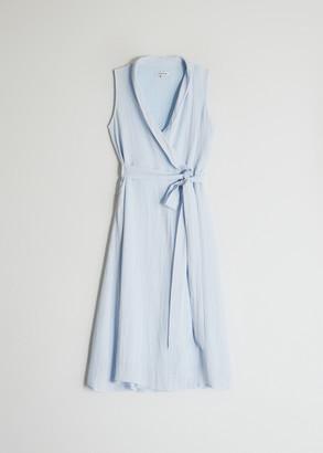 Stelen Women's Susie Wrap Dress in Pale Blue, Size Extra Small