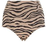 Prism Striped High-Waist Bikini Bottom