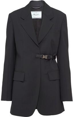 Prada Single-Breasted Light Wool Jacket