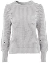 Topshop Stitch mutton sleeve jumper