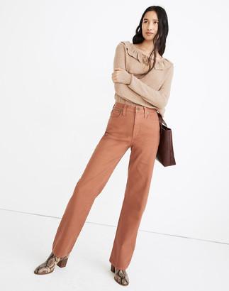 Madewell Slim Wide-Leg Full-Length Pants: Garment-Dyed Edition