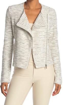 Bagatelle Wing Collar Tweed Moto Jacket