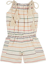 Anthem of the Ants COTTON-BLEND STRIPE INTARSIA-KNIT ROMPER