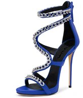 XYD Evening Party High Heels Sandals Sexy Strappy Stilettos Pumps Open Toe Dress Shoes for Women Size 10