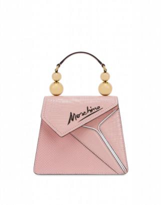 Moschino Slice Cocco Handbag Woman Pink Size U It - (one Size Us)