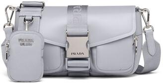 Prada Pocket logo-strap crossbody bag