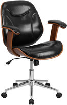 Asstd National Brand Mid Back Leather Office Chair
