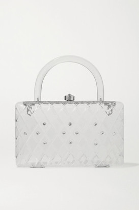 HVN Rio Crystal-embellished Acrylic Tote - White