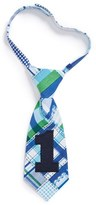 Mud Pie 'I'm One' Plaid Tie (Baby Boys)