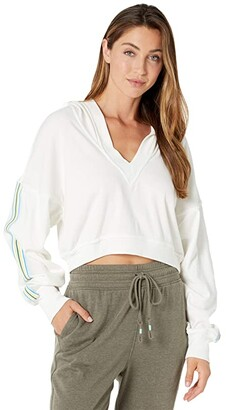 FP Movement Grand Slam Sweat Striped (White Combo) Women's Clothing