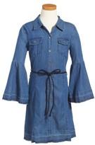 Bebe Girl's Bell Sleeve Chambray Dress