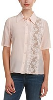 Tracy Reese Lace-paneled Silk Top.