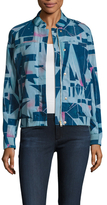 Paul Smith Print Ribbed Welt Pocket Bomber Jacket