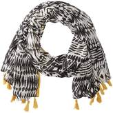 San Diego Hat Company BSS1740 Woven Tribal All Over Print with Tassel Scarves