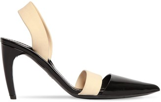 Proenza Schouler 90mm Latex & Leather Sling Back Pumps