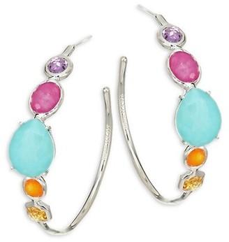 Ippolita Rock Candy Sterling Silver & Multi-Stone Hoop Earrings