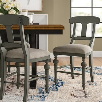 "Three Posts Sandbach 24"" Back Side Chair in Weathered Gray"