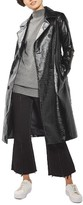 Topshop Women's Vinyl Trench Coat