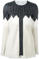 Aviu quilted panel zipped jacket