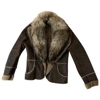 Andrew Marc Brown Fox Coat for Women
