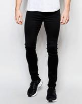 Dr Denim Jeans Kissy Extreme Super Skinny 90s Black