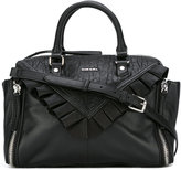 Diesel ruffled trim shoulder bag