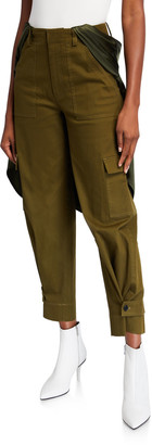 Hellessy Holzer Satin-Trim Cargo Pants